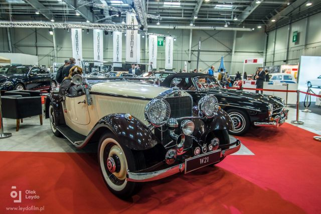 Classic Mercedes cars at Poznań's Retro Motor Show