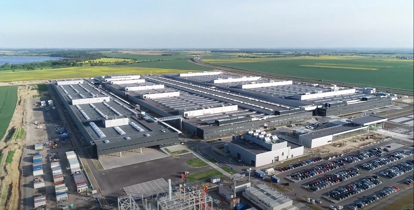 Working progress – battery factory in May 2020