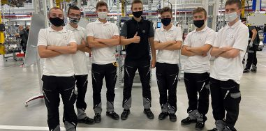 The patronage class of mechatronics started apprenticeships in the factory